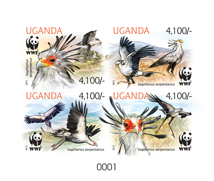 WWF – Birds - Issue of Uganda postage stamps