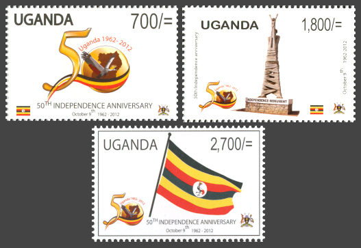 50th Independence anniversary - Issue of Uganda postage stamps