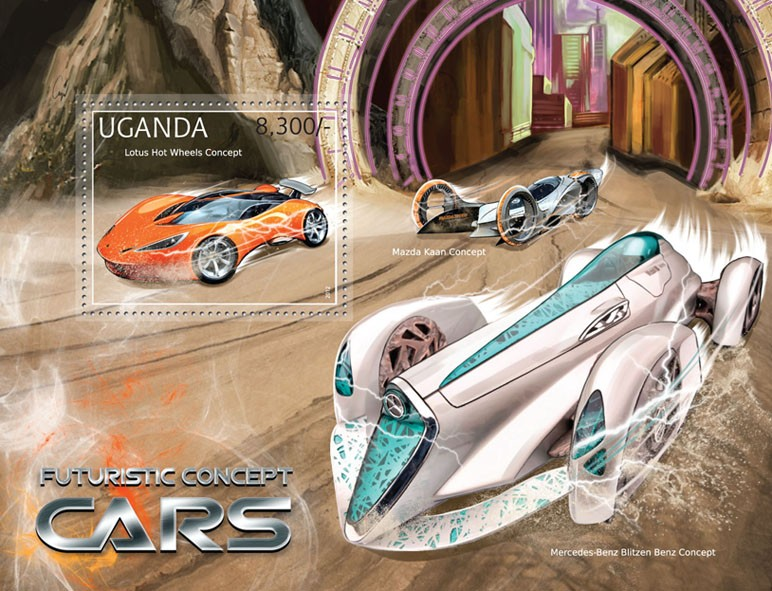 Futuristic Concept Cars - Issue of Uganda postage stamps