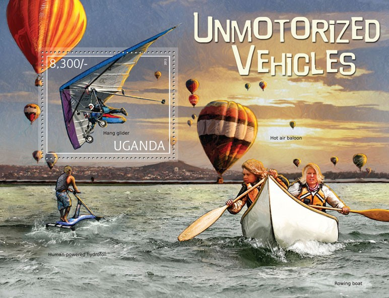 Unmotorized Vehicles - Issue of Uganda postage stamps