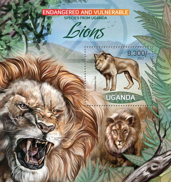 Lions II - Issue of Uganda postage stamps