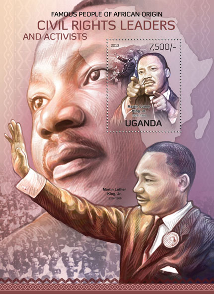 Civil Rights Leaders and Activists - Issue of Uganda postage stamps