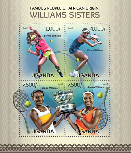 William Sisters - Issue of Uganda postage stamps