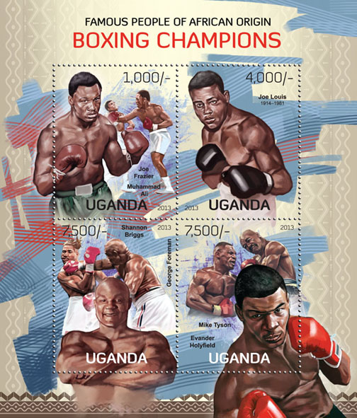 Boxing Champions - Issue of Uganda postage stamps