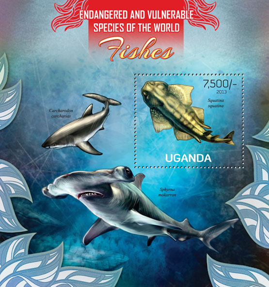 Fishes - Issue of Uganda postage stamps