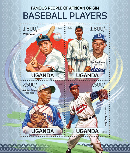Baseball - Issue of Uganda postage stamps