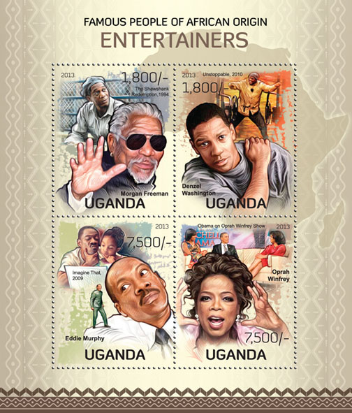 Entertainers - Issue of Uganda postage stamps