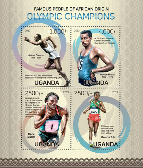 Olympic Champions - Issue of Uganda postage stamps