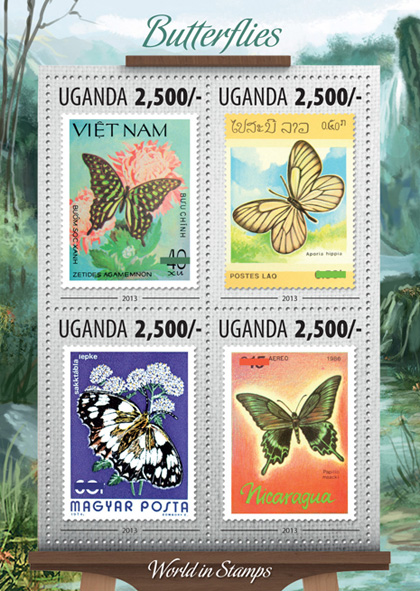 Butterflies - Issue of Uganda postage stamps