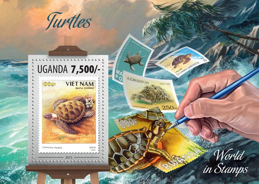 Turtles - Issue of Uganda postage stamps