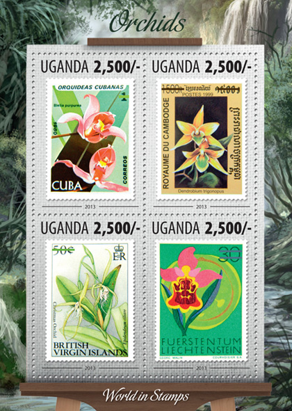 Orchids - Issue of Uganda postage stamps