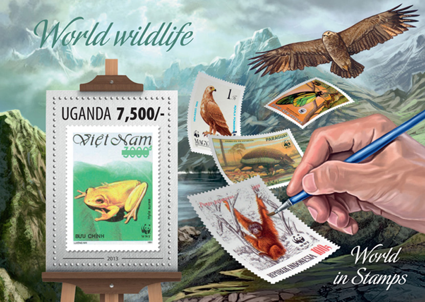 World Wildlife - Issue of Uganda postage stamps