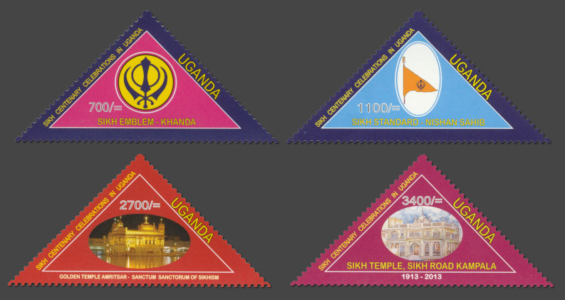Centenary Celebration of the Sikh Temple - Issue of Uganda postage stamps