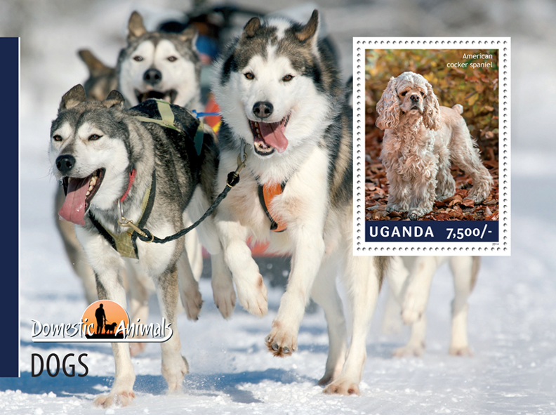 Dogs - Issue of Uganda postage stamps