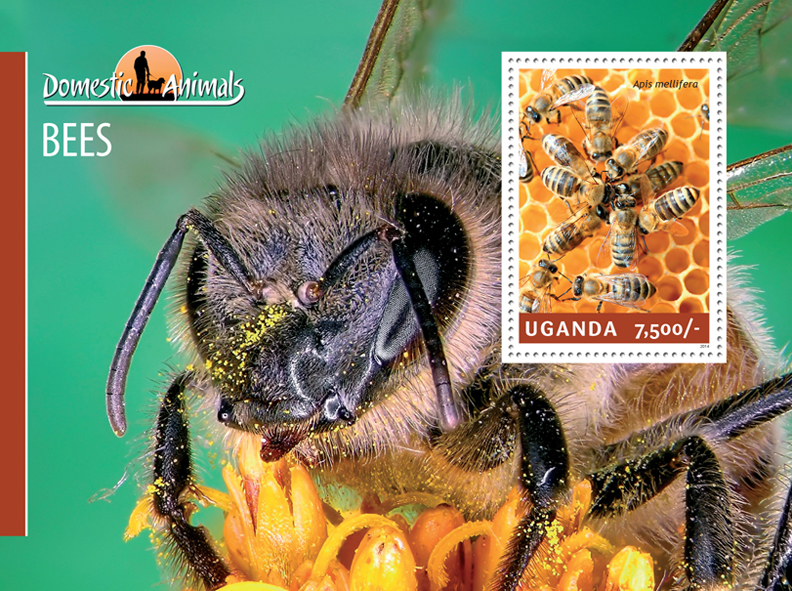 Bees - Issue of Uganda postage stamps