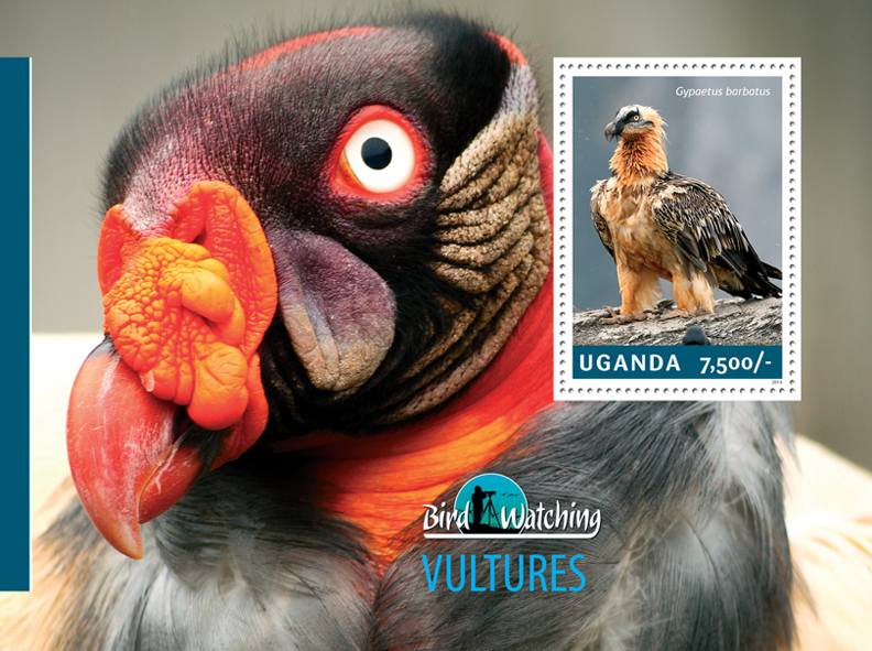 Vultures - Issue of Uganda postage stamps